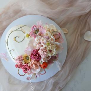 Pretty Pink Heart Cake