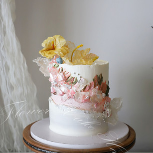 Pink Sea Glass Cake