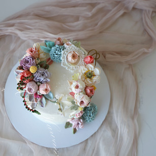 Rainbow Floral Cake