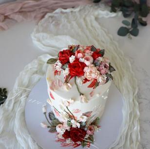 Red Floral Medley