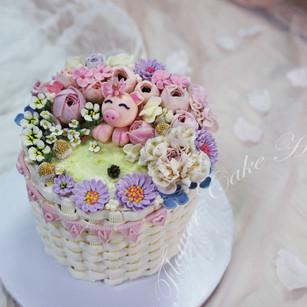 Piggy Meadow Cake