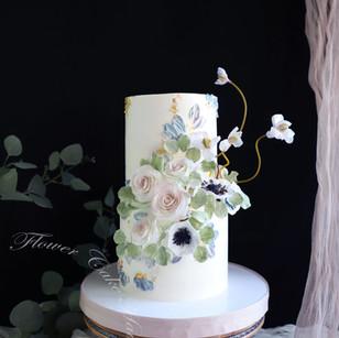 Watercolor Chic Cake