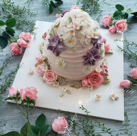 Floral Honeycomb Cake