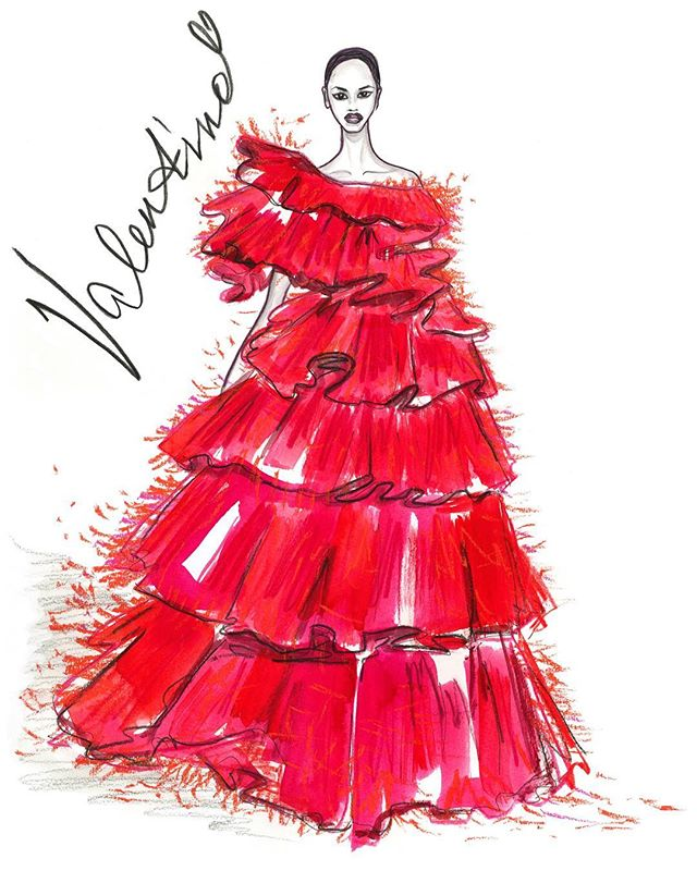 Gorgeous red dress _maisonvalentino by _