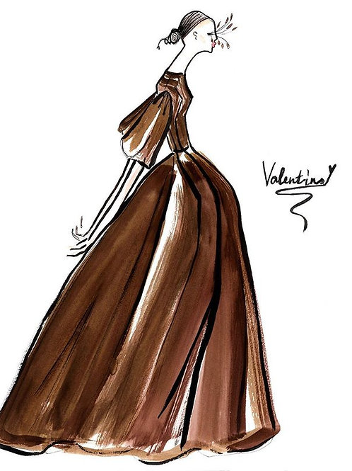 Valentino in Brown