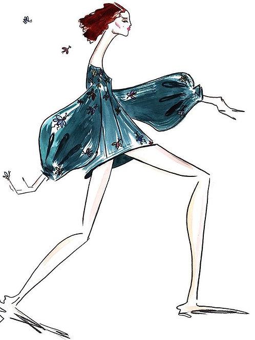 Carolina Herrera Comic Look