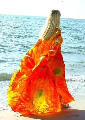 Cardigan pretty Marguerite orange.