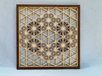 Kumiko #2 Yae-asanoha pattern (hemp leaf)