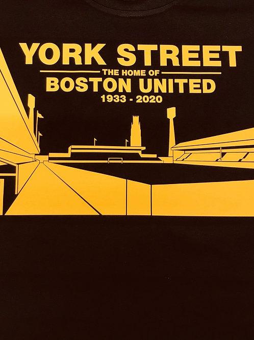 YORK STREET Amber on Black T-Shirt