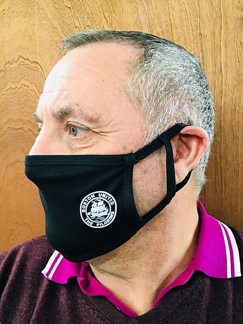 BOSTON UNITED BLACK FACE MASK