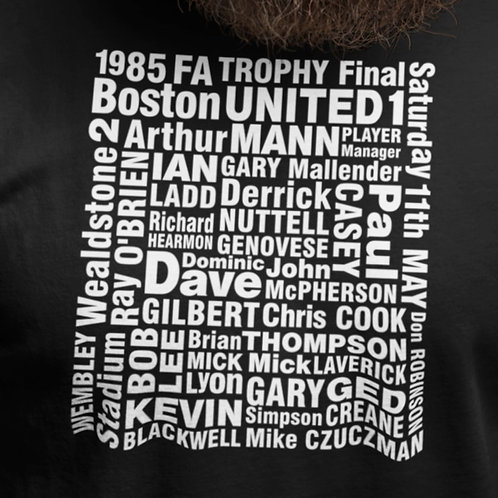 BOSTON UNITED 1985 FA TROPHY FINAL APPEARANCE T-SHIRT