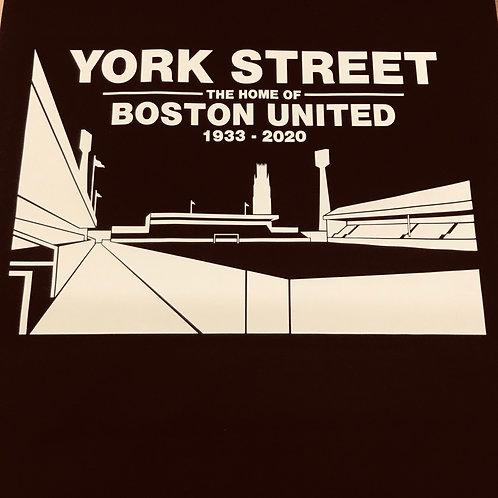 YORK STREET White on Black T-Shirt