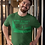 Thumbnail: YORK STREET - MALCOLM WHITE T-SHIRT - GREEN ON GREEN