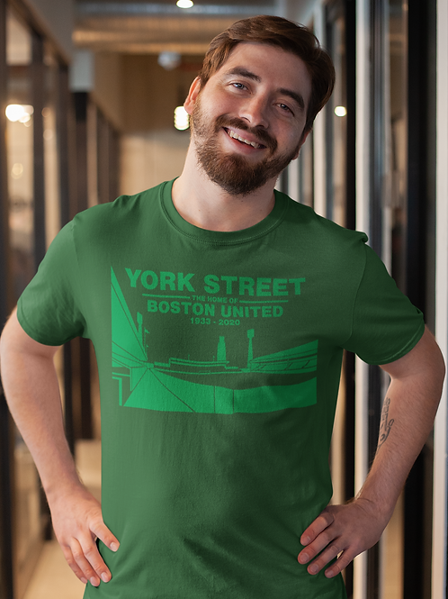 YORK STREET - MALCOLM WHITE T-SHIRT - GREEN ON GREEN