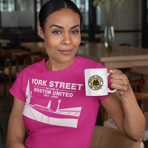 YORK STREET White on Pink T-Shirt