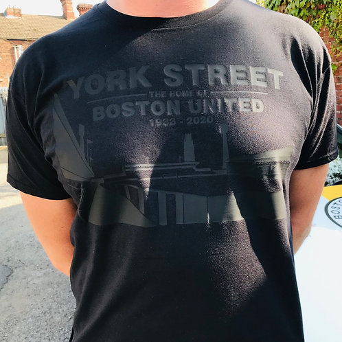 YORK STREET - PIERGIANNI T-SHIRT - BLACK ON BLACK