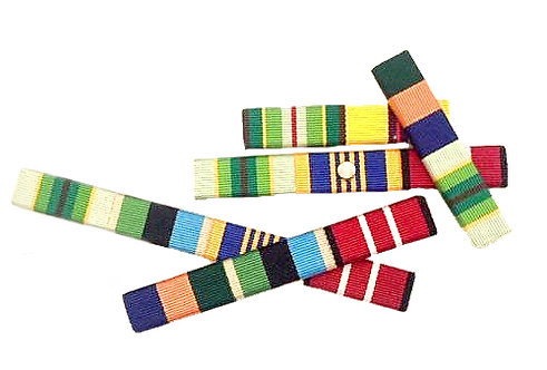 SINGLE ROW RIBBON BAR (1 - 4 RIBBONS)
