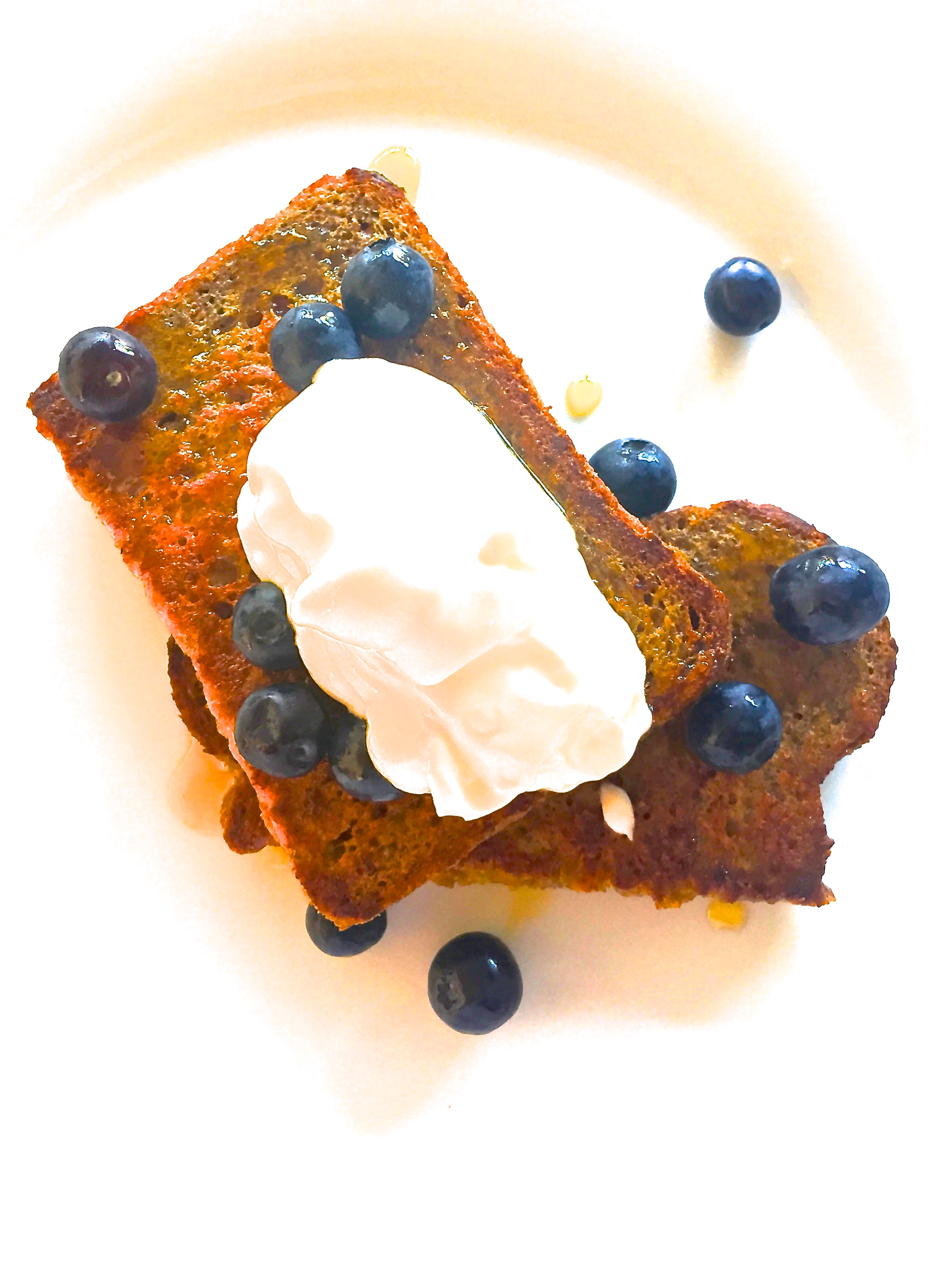 French Toast with Mint Infused Honey