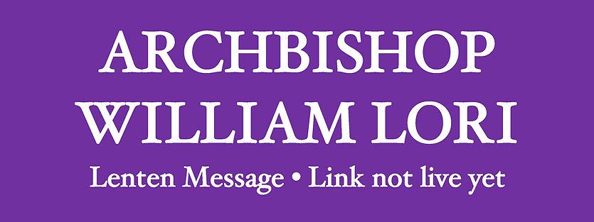 Website Banner - Lent 2021 Archbishop no