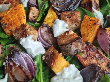 Butternut Salad & Blue Cheese Dressing