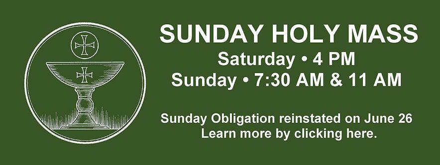 Website Banner - Sunday Holy Mass green.