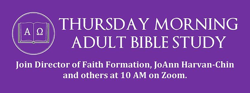 WEbsite Banner - Lent Thursday AM Bible