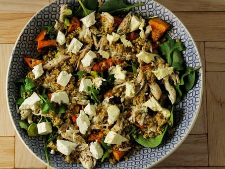Chicken, Butternut & Blue Cheese Salad