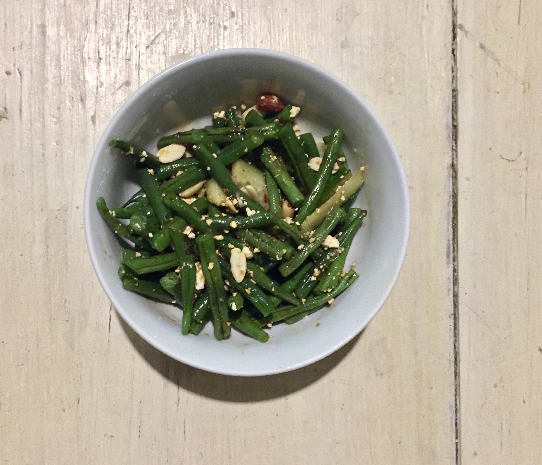 Sezchuan green bean salad