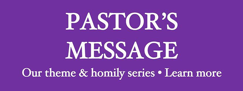 Website Banner - Lent 2021 Pastor's Mess