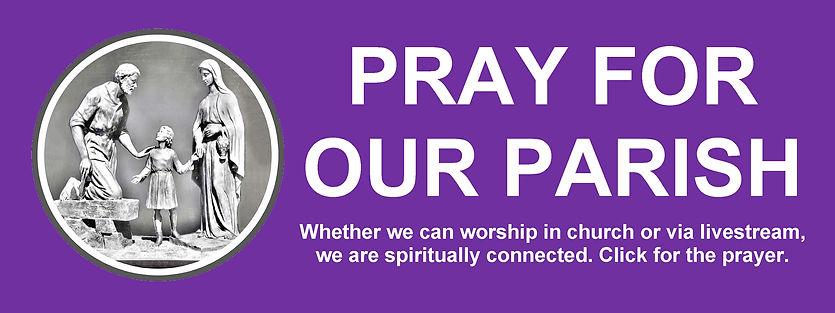 Website Banner - Lent Pray for our Paris