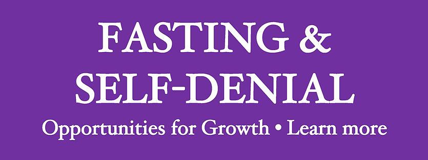 Website Banner - Lent 2021 Fasting & Sel
