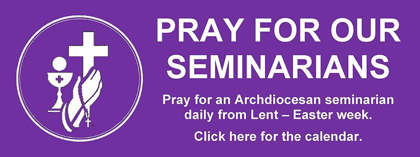 Website Banner - Lent Pray for Seminaria