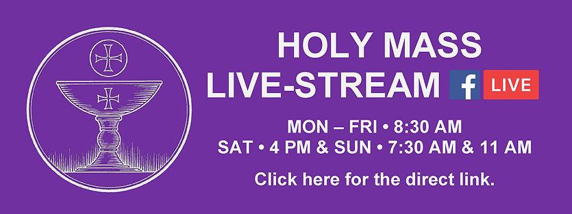Website Banner - Lent Holy Mass Livestre