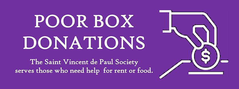 Website Banner - Lent Poor Box Donations