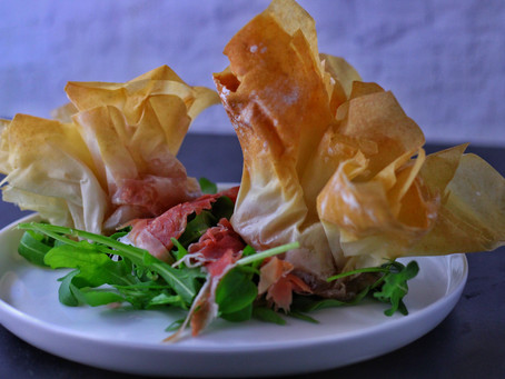 Camembert Phyllo Parcels