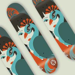 skate collab - Camila pinheiro