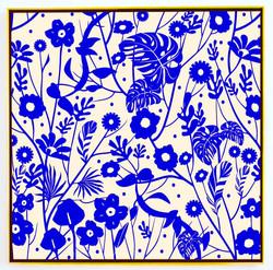 quadro azul flores - camila pinheiro_edi