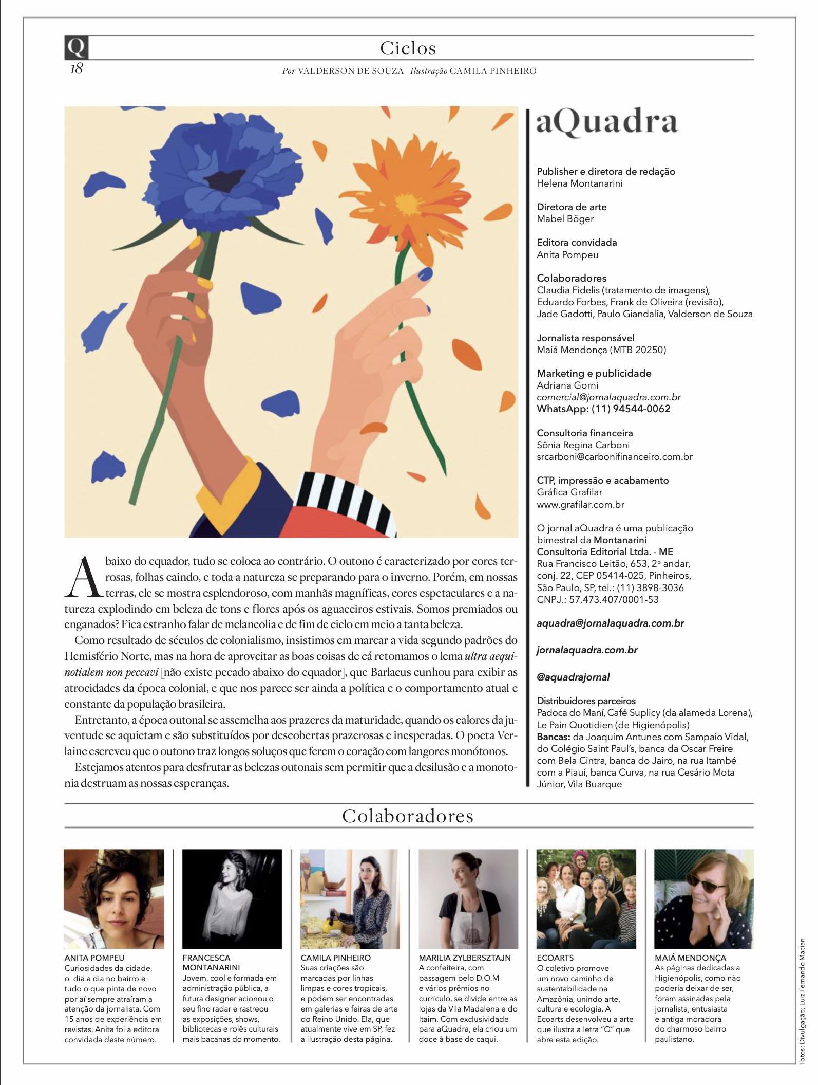 Jornal A Quadra - ilustracao Camila Pinh
