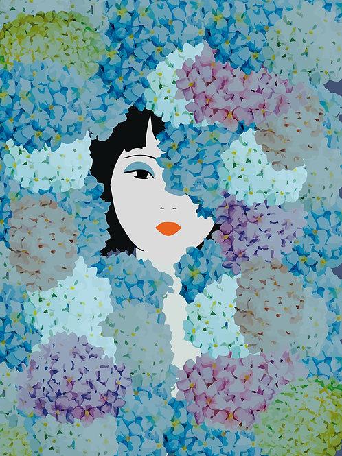 Jardim Secreto (Giclée em canvas 90 X 90 cm )