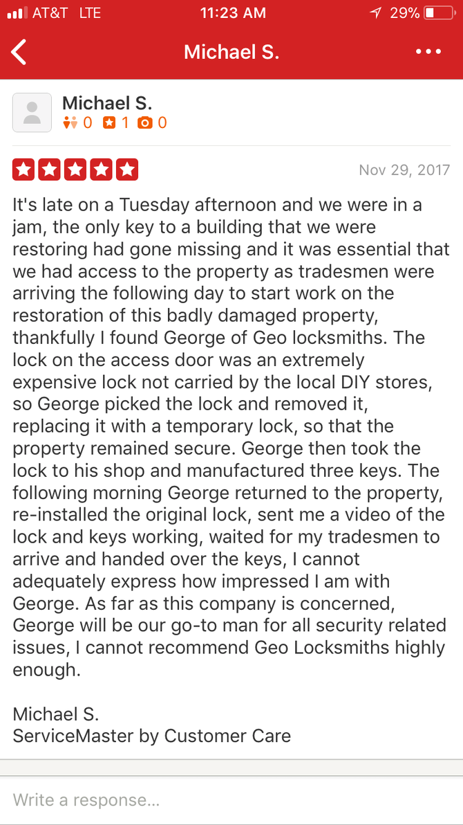 #yelp #yelpreview #brooklynlocksmith #geolocksmith #review