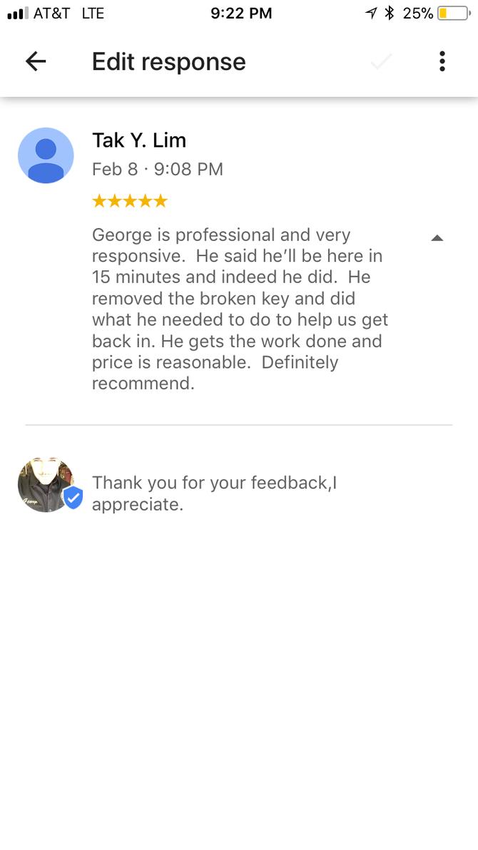 google review #geolocksmith #brooklynloclsmith #locksmith #googlereview