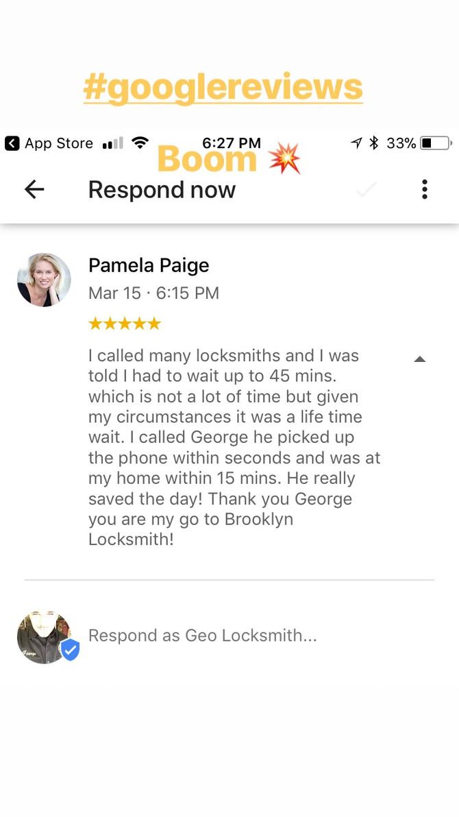 #googlereview #brooklynlocksmith #geolocksmith