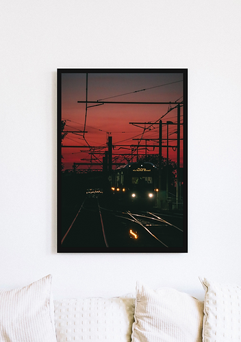 Manchester Tram Sunset - 095