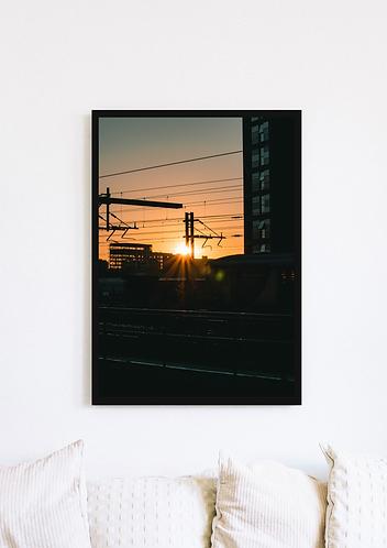 Manchester Train Tracks Sunset - 024