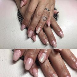 #nails #nailstagram #glitter #pink #girl