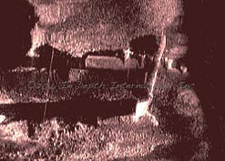 Sidescan sonar side scan image of B-29 bomber in Lake Mead Nevada underwater survey marine science technical diving In Depth Consulting