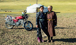 Mongolia nomaic family herder ger yurt motorcycle deel steppe adventure tour travel self-driving