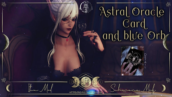 [S] Astral Oracle Card and blue Orb