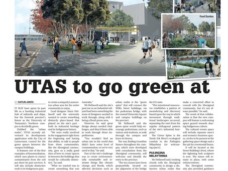 UTAS to go green at Inveresk campus