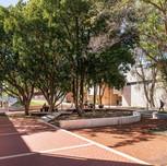 curtin university B407 courtyard